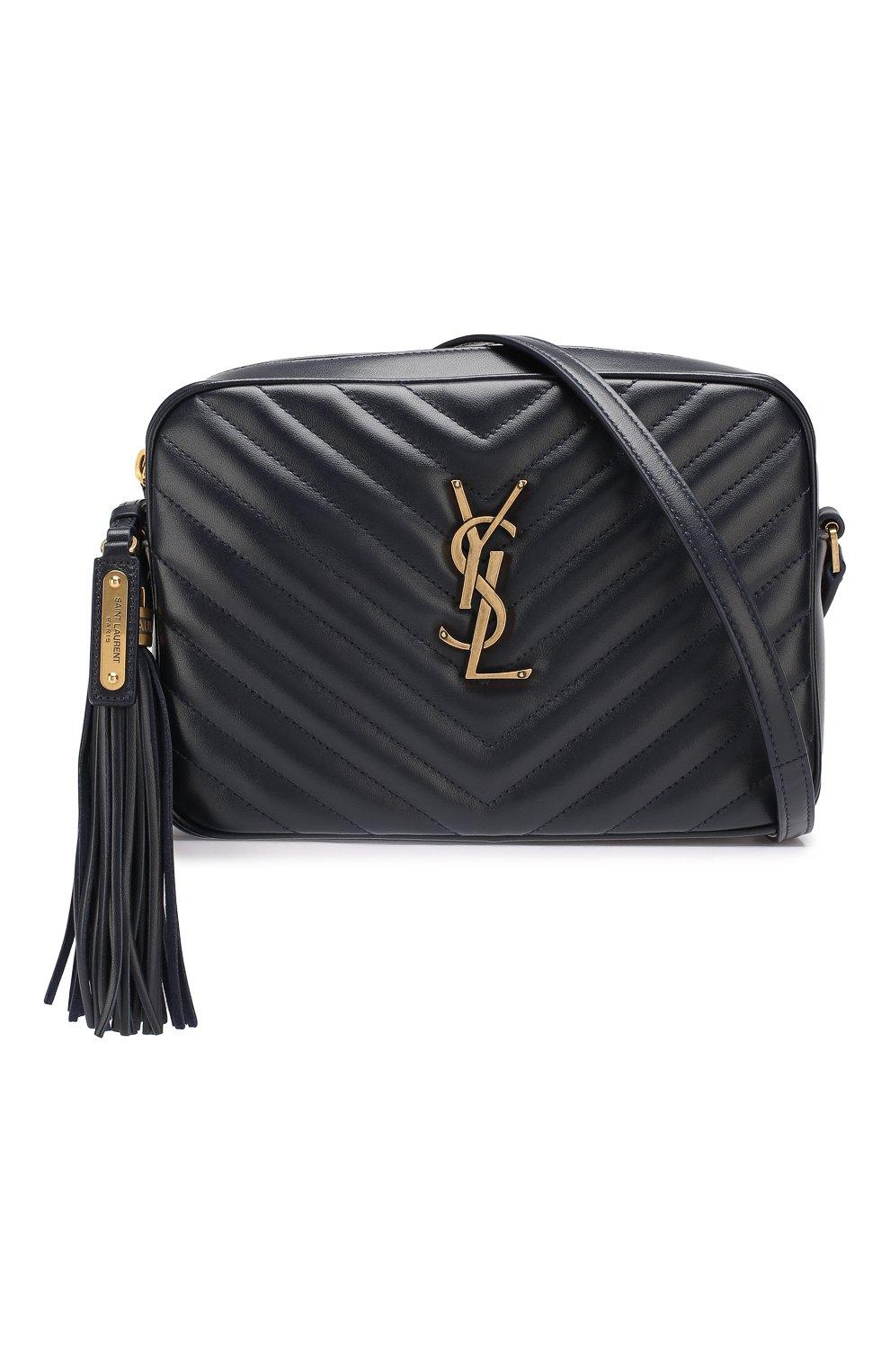 Женская сумка lou medium SAINT LAURENT темно-синего цвета, арт. 520534/DV707   Фото 5