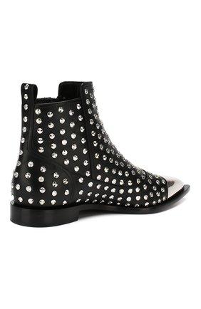 Кожаные ботинки Alexander McQueen черные   Фото №4