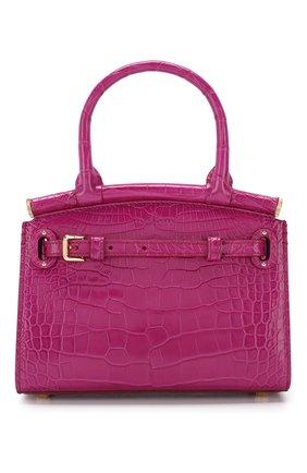 Женская сумка rl50 mini из кожи аллигатора RALPH LAUREN розового цвета, арт. 435769101/AMIS   Фото 1 (Ремень/цепочка: На ремешке; Размер: mini; Материал: Натуральная кожа, Экзотическая кожа; Статус проверки: Проверено, Проверена категория; Сумки-технические: Сумки через плечо, Сумки top-handle)