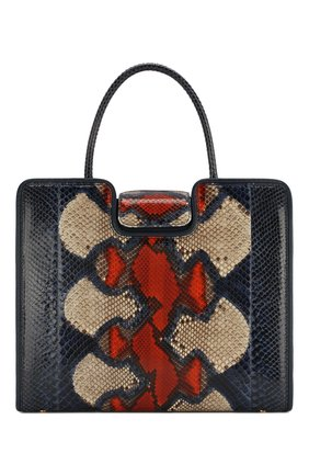 Женская сумка quadratic из кожи питона RUBEUS MILANO синего цвета, арт. 077/15D | Фото 1