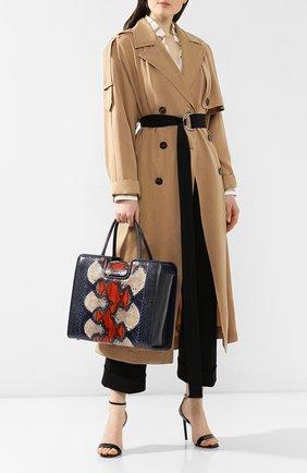 Женская сумка quadratic из кожи питона RUBEUS MILANO синего цвета, арт. 077/15D | Фото 2