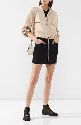 Женские кожаные кеды RUBEUS MILANO коричневого цвета, арт. 001/16K | Фото 2