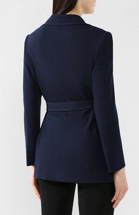 Женский шерстяной жакет KITON темно-синего цвета, арт. D47529K09R12   Фото 4