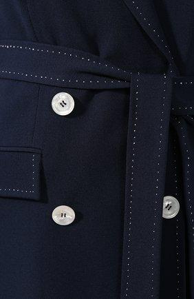 Женский шерстяной жакет KITON темно-синего цвета, арт. D47529K09R12   Фото 5