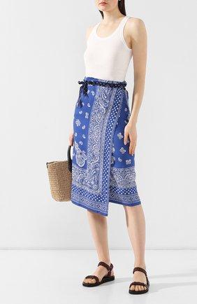 Женская юбка из вискозы POLO RALPH LAUREN синего цвета, арт. 211744895 | Фото 2
