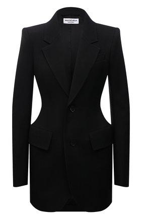 Женский шерстяной жакет BALENCIAGA черного цвета, арт. 571278/TYI20 | Фото 1