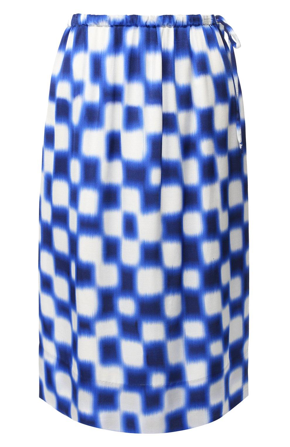 Женская юбка из вискозы DRIES VAN NOTEN синего цвета, арт. 191-10845-7010 | Фото 1