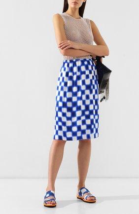 Женская юбка из вискозы DRIES VAN NOTEN синего цвета, арт. 191-10845-7010 | Фото 2