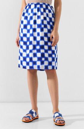 Женская юбка из вискозы DRIES VAN NOTEN синего цвета, арт. 191-10845-7010 | Фото 3