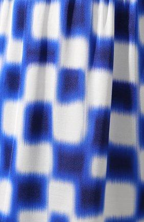 Женская юбка из вискозы DRIES VAN NOTEN синего цвета, арт. 191-10845-7010 | Фото 5