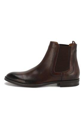 Мужские кожаные челси BOSS коричневого цвета, арт. 50403074   Фото 3