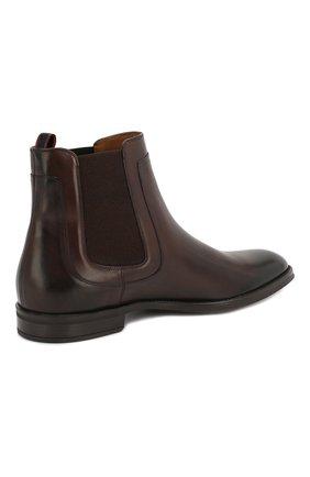 Мужские кожаные челси BOSS коричневого цвета, арт. 50403074   Фото 4