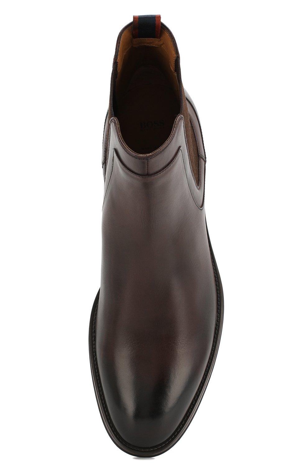 Мужские кожаные челси BOSS коричневого цвета, арт. 50403074   Фото 5