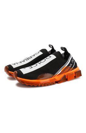 Мужские текстильные кроссовки sorrento DOLCE & GABBANA оранжевого цвета, арт. CS1595/AK235 | Фото 1