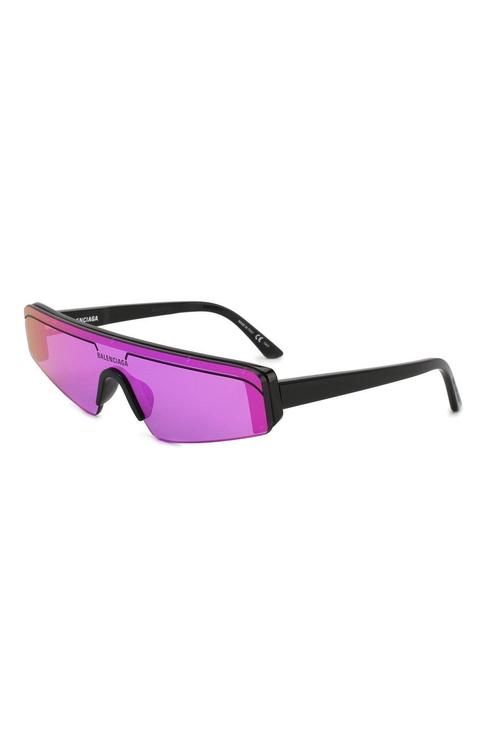Женские солнцезащитные очки BALENCIAGA фиолетового цвета, арт. BB0003 003 | Фото 1