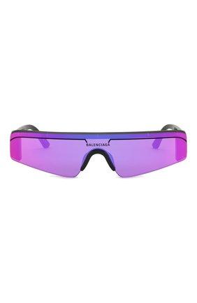 Женские солнцезащитные очки BALENCIAGA фиолетового цвета, арт. BB0003 003 | Фото 3