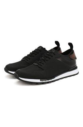 Мужские комбинированные кроссовки BERLUTI черного цвета, арт. S4737-001 | Фото 1