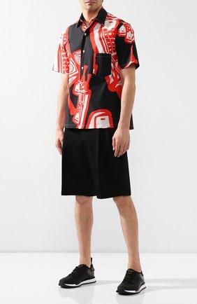 Мужские комбинированные кроссовки BERLUTI черного цвета, арт. S4737-001 | Фото 2