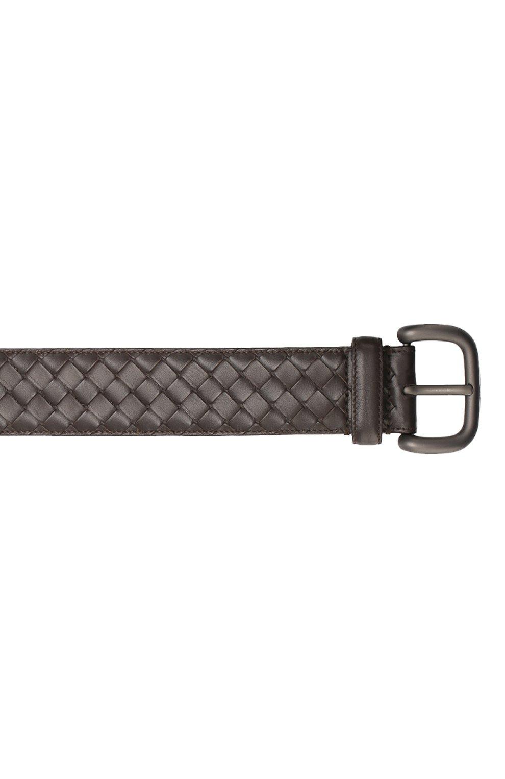 Мужской кожаный ремень BOTTEGA VENETA коричневого цвета, арт. 173784/V4650 | Фото 3 (Случай: Повседневный)