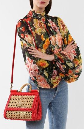 Сумка Sicily medium Dolce & Gabbana бежевая цвета   Фото №5