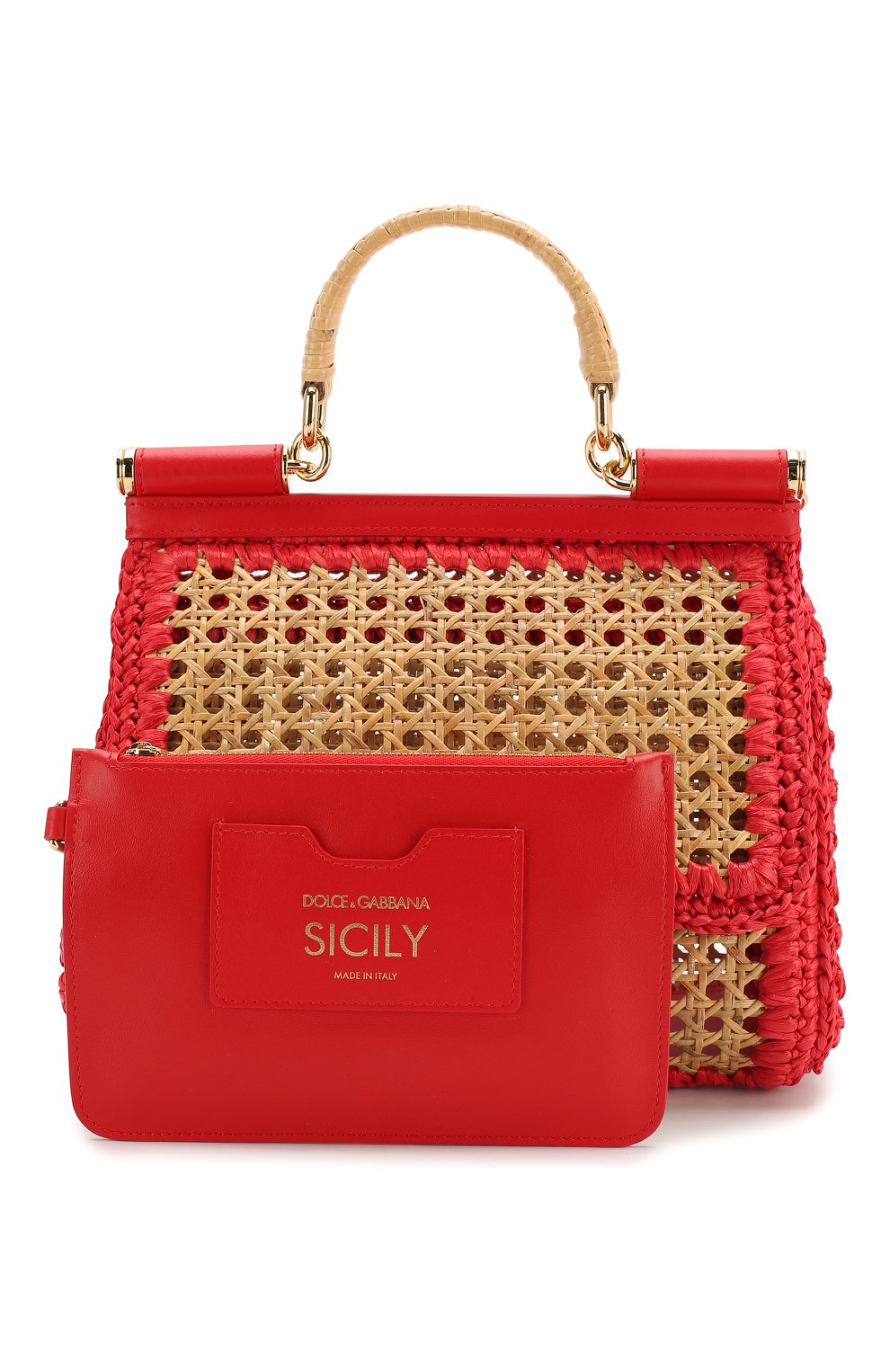 Сумка Sicily medium Dolce & Gabbana бежевая цвета   Фото №7