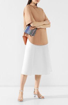 Кожаные босоножки Proenza Schouler белые | Фото №2