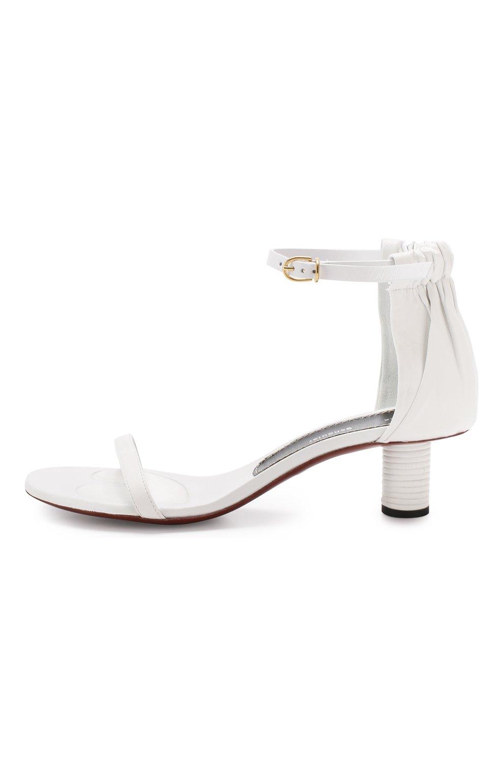 Кожаные босоножки Proenza Schouler белые | Фото №3