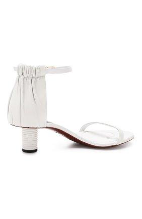 Кожаные босоножки Proenza Schouler белые | Фото №4