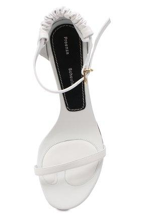 Кожаные босоножки Proenza Schouler белые | Фото №5