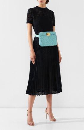 Поясная сумка Upside Down Fendi бирюзовая | Фото №2