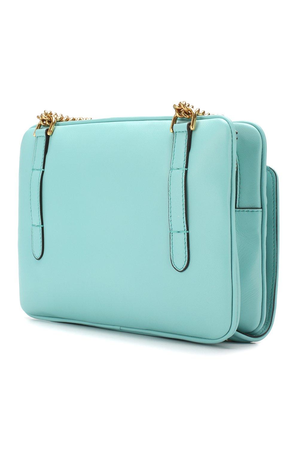 Поясная сумка Upside Down Fendi бирюзовая | Фото №3