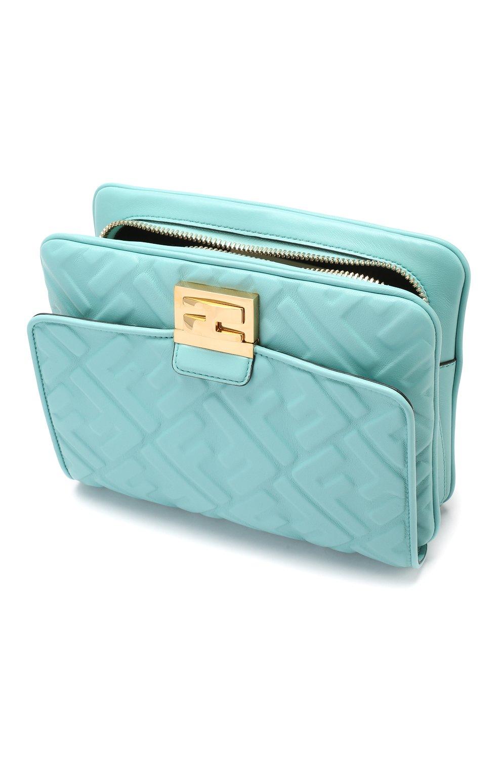 Поясная сумка Upside Down Fendi бирюзовая | Фото №4