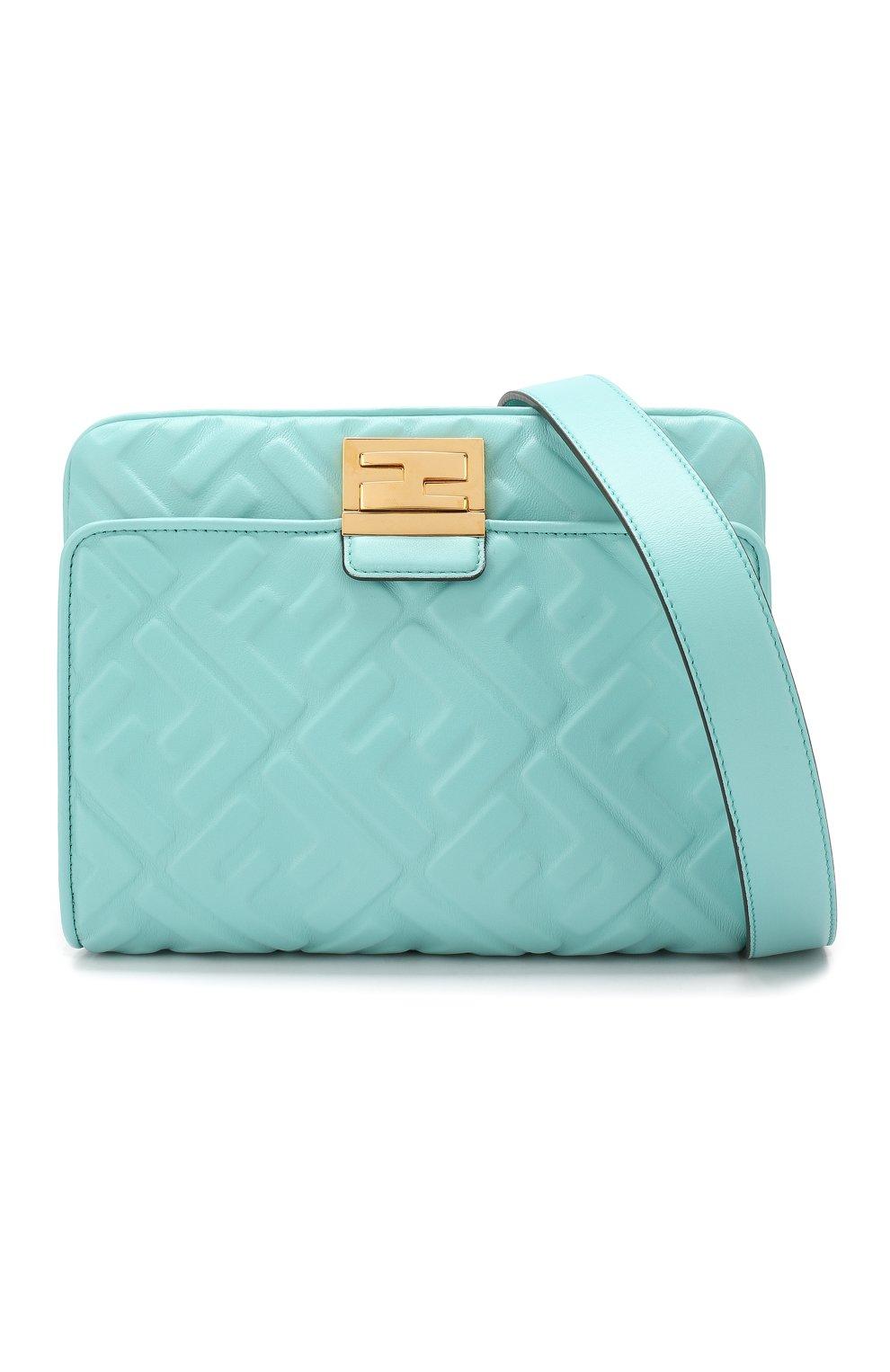 Поясная сумка Upside Down Fendi бирюзовая | Фото №6