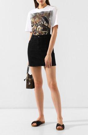Текстильные шлепанцы Fendi черные | Фото №2