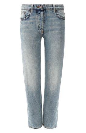 Женские джинсы с потертостями THE ROW синего цвета, арт. W263F375 | Фото 1