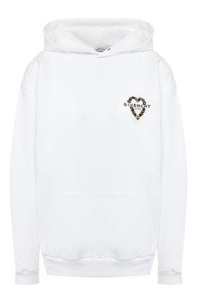 Хлопковое худи Givenchy белый   Фото №1
