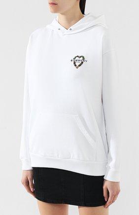 Хлопковое худи Givenchy белый   Фото №3