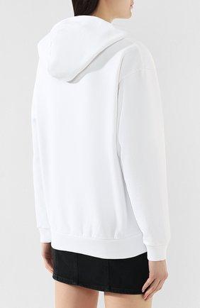 Хлопковое худи Givenchy белый   Фото №4