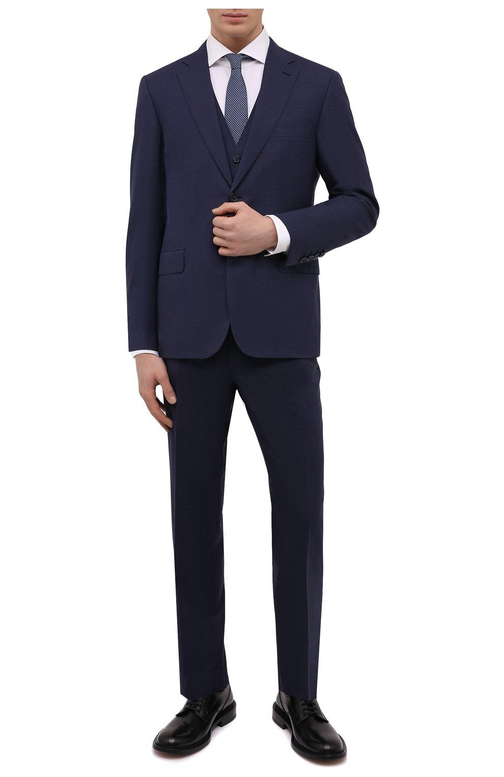 5aec59fd96aa Мужской синий шерстяной костюм-тройка BRIONI — купить за 435500 руб ...