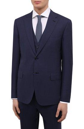 Мужской шерстяной костюм-тройка BRIONI синего цвета, арт. RS0J0L/P8A8Q/BRUNIC0/G | Фото 2