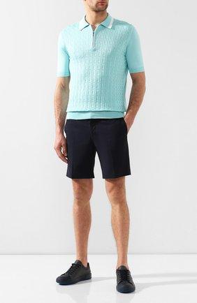 Мужские кожаные кеды с отделкой из кожи каймана ZILLI темно-синего цвета, арт. MDR-T042/0A1/CCR0 | Фото 2