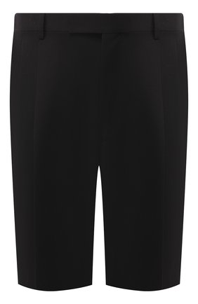Мужские шерстяные шорты BERLUTI черного цвета, арт. R15TBU05-002 | Фото 1