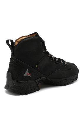 Мужские комбинированные ботинки ROA черного цвета, арт. VAR092   Фото 4 (Материал внешний: Текстиль; Мужское Кросс-КТ: Хайкеры-обувь, Ботинки-обувь; Материал внутренний: Натуральная кожа, Текстиль; Статус проверки: Проверено, Проверена категория; Подошва: Плоская)