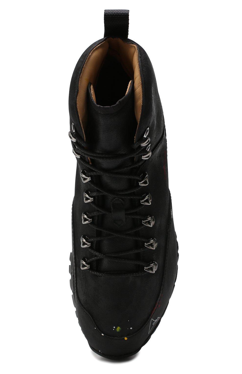 Мужские комбинированные ботинки ROA черного цвета, арт. VAR092   Фото 5 (Материал внешний: Текстиль; Мужское Кросс-КТ: Хайкеры-обувь, Ботинки-обувь; Материал внутренний: Натуральная кожа, Текстиль; Статус проверки: Проверено, Проверена категория; Подошва: Плоская)