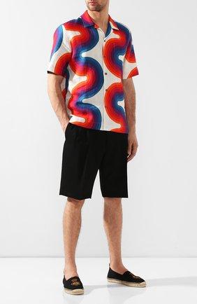 Мужские текстильные эспадрильи RALPH LAUREN черного цвета, арт. 815744314 | Фото 2
