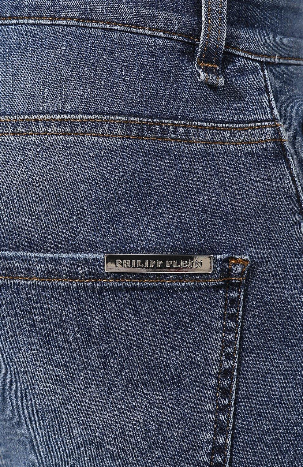 Джинсы Philipp Plein голубые | Фото №5