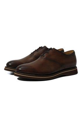 Мужские кожаные оксфорды BERLUTI коричневого цвета, арт. S4646-001 | Фото 1