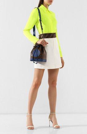 Женская сумка mon tresor small FENDI синего цвета, арт. 8BT298 A5KC | Фото 2