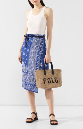 Женская сумка-тоут POLO RALPH LAUREN бежевого цвета, арт. 428742087 | Фото 2