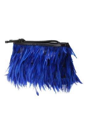 Клатч Dries Van Noten синего цвета | Фото №3